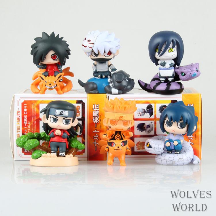 SAINTGI Naruto Shippuuden Naruto/Sasuke/Kakashi/Madara/Orochimaru/Hashirama PVC Action Figure Anime Toy Collectible Model Doll