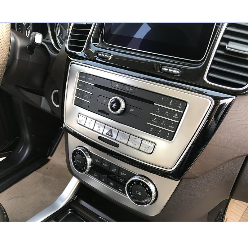 Car Styling Car CD Panel Stickers Air Conditioning Switch Panel Trim Cover For Mercedes Benz ML X166 GLE Coupe C292 GLS Vehicle машина технопарк mercedes benz gle coupe