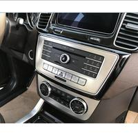 Car Styling Car CD Panel Stickers Air Conditioning Switch Panel Trim Cover For Mercedes Benz ML X166 GLE Coupe C292 GLS Vehicle