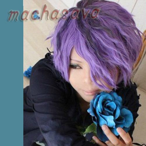 IB GARRY Purple mixed Cute Short Curly Anime Cosplay Party Hair Wig on Aliexpress.com | Alibaba