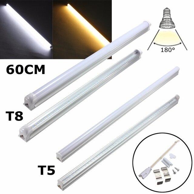 Led Light Bulb 4 8w 9w T5 T8 G13 2835smd Lamp Fluorescent Warm Soft White Lighting 30cm 60cm Ac175 265v