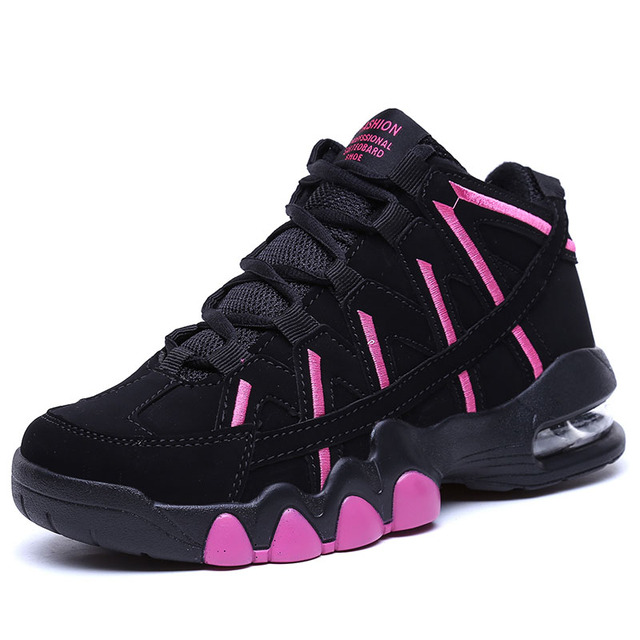 Couleurs variées 8f094 a0997 US $20.09 55% OFF|New Women's Air Cushion Basketball Shoes Men Jordan Retro  Boots Breathable Outdoor Sneakers Basket Homme Non slip Training Shoes-in  ...