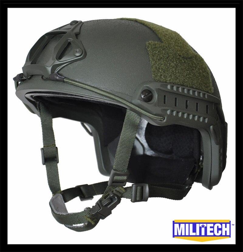 MILITECH Oliver Drab Green Deluxe Worm Dial NIJ level IIIA 3A FAST High Cut Ballistic Bulletproof