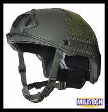MILITECH Оливер Драб зеленый роскошный червячный циферблат NIJ уровень IIIA 3A Быстрый с высоким вырезом баллистический пуленепробиваемый шлем с 5 лет гарантии