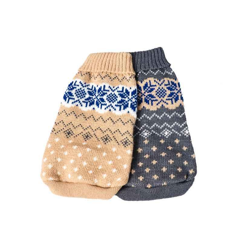 חורף כלב סרוג סוודר בגדי חיות מחמד כלבי חתול סריגי חג המולד גור חם מעיל צ 'יוואווה בגדי עבור קטן בינוני גדול כלב