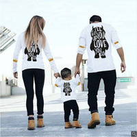 Family Matching Outfits Mother and Daughter Long Sleeves Autumn Winter Family T shirt Father and Son Shirts Mommy and Me Clothes
