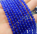 Blue jade 4/6/8/10/12mm round loose beads 15 inch 2 pieces/lot dimension optional DIY stone fashion jewelry making design