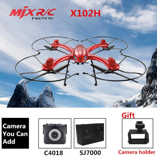 MJX RC Drone Drone X102H Wite Cámara O Sin Cámara Quadrocopter 6-Axis Aviones RC Quadcopter DEL Helicóptero de RC VS MJX X101 Dron
