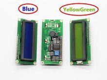 Lcd1602 + i2c lcd 1602 módulo, tela azul/verde pcf8574 iic/i2c lcd1602 placa adaptador