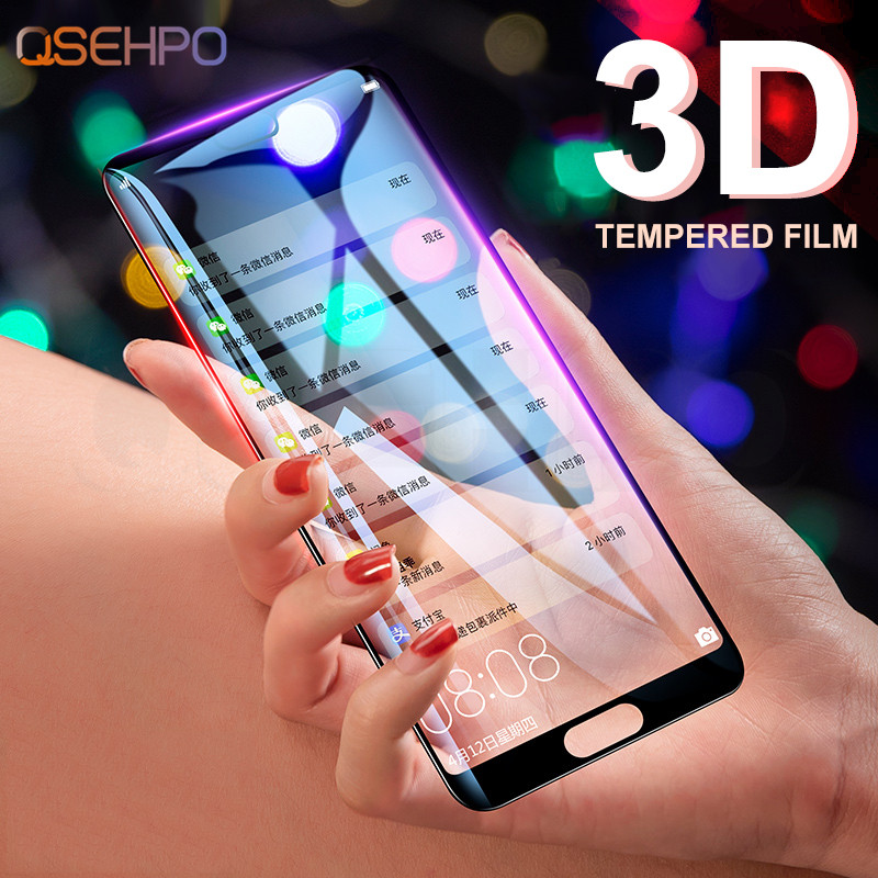 3D Full Cover Tempered Glass For Huawei P20 Lite Pro Screen Protector cover for Honor 10 9 8 Lite 8X 8C 8A Glass Protective Film-in Phone Screen Protectors from Cellphones & Telecommunications