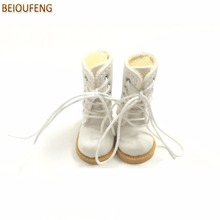 BEIOUFENG BJD Fottøy High Boots for Dolls, 3.8cm Sneakers for Dolls, Causal Canvas Shoes Gym Sko for BJD Dolls Toy One Pair