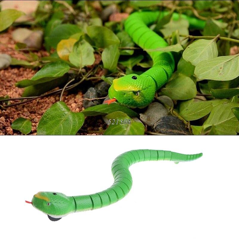 2017 novedad Control remoto serpiente cascabel Animal terrorífico juguete travesura MAR3_15