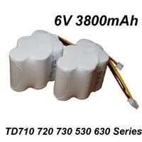 UNITEK NEW 2PCS 6V 3800mAh SC NI MH Nimh Vacuum Cleaner Battery Pack For ECOVACS DEEBOT