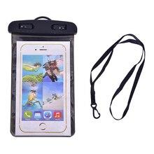 6 цветов для 5,5 дюймовых следующих размеров всех телефонов сумки для плавания водонепроницаемый мешок с светящийся подводный чехол для телефона