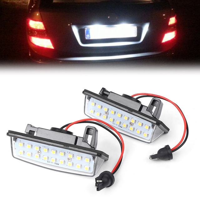 For Nissan Murano Altima Pathfinder Quest Sentra Rogue Versa Note Maxima Led License Number Plate Light Lamp Lighting Ce 2pcs