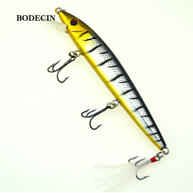 1PCS yo-zuri Minnow Wobblers Artificial Fishing Lure Trolling Lures Wobbler Bait For Crazy Fish Sea Tackle Peche Swimbait 12CM ep f57 grey