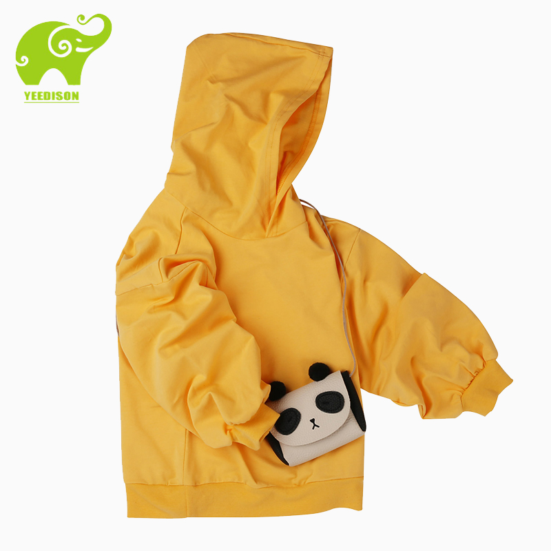 Yeedsion Child Hoodies for Girl Boy Solid Cotton Soft Child Hoodies for Teens Durable Long Sleeve Kids Active Hoodies 2-11 years