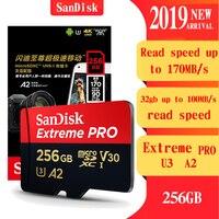 SanDisk Extreme PRO High Stability Microsd 256GB Memory Card 128GB 32GB 64gb Micro SD Card Class10 SDXC UHS I U3 Flash TF Card
