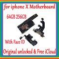 Оригинальная материнская плата для iPhone X 64GB 256GB Заводская разблокированная материнская плата с идентификацией лица/без ID лица IOS Update Suppor MB ...