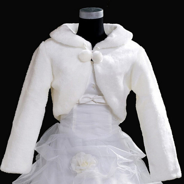 Free Shipping New 2015 Wholesale  Faux Fur Wedding Bridal Wrap Shawl Wedding Jackets / Wrap Coat Bolero