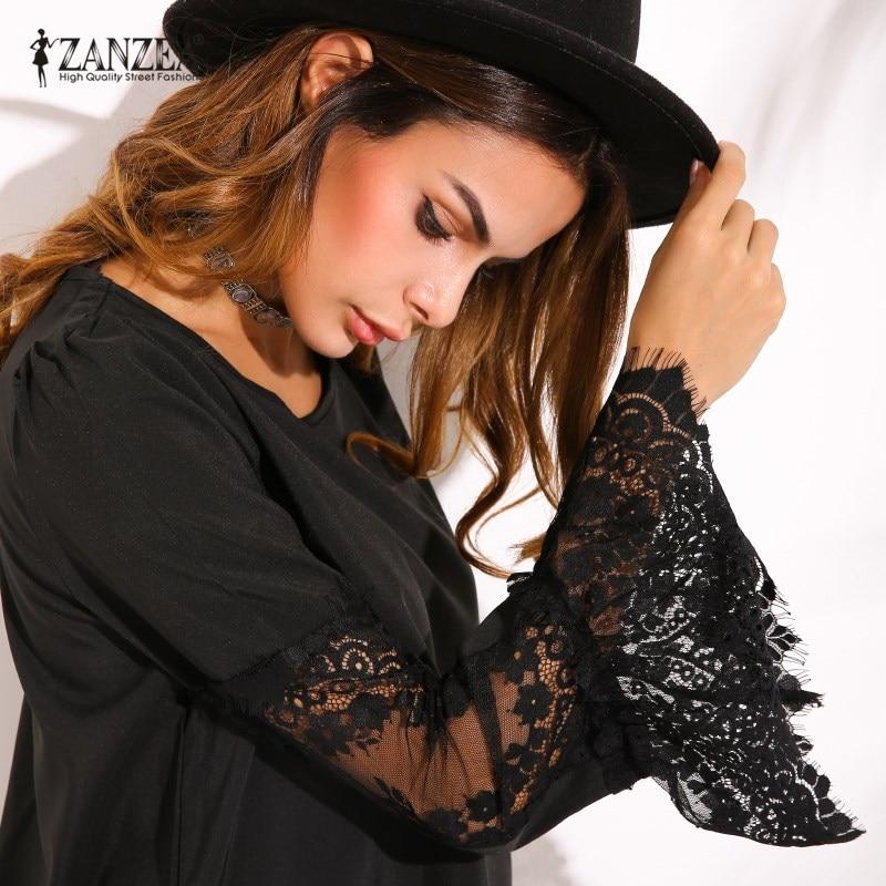 2019 ZANZEA ქალის - ქალის ტანსაცმელი - ფოტო 2