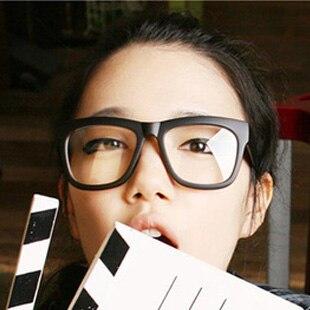 oversized glasses frame male women non mainstream vintage eyeglasses frame black plain glass spectacles