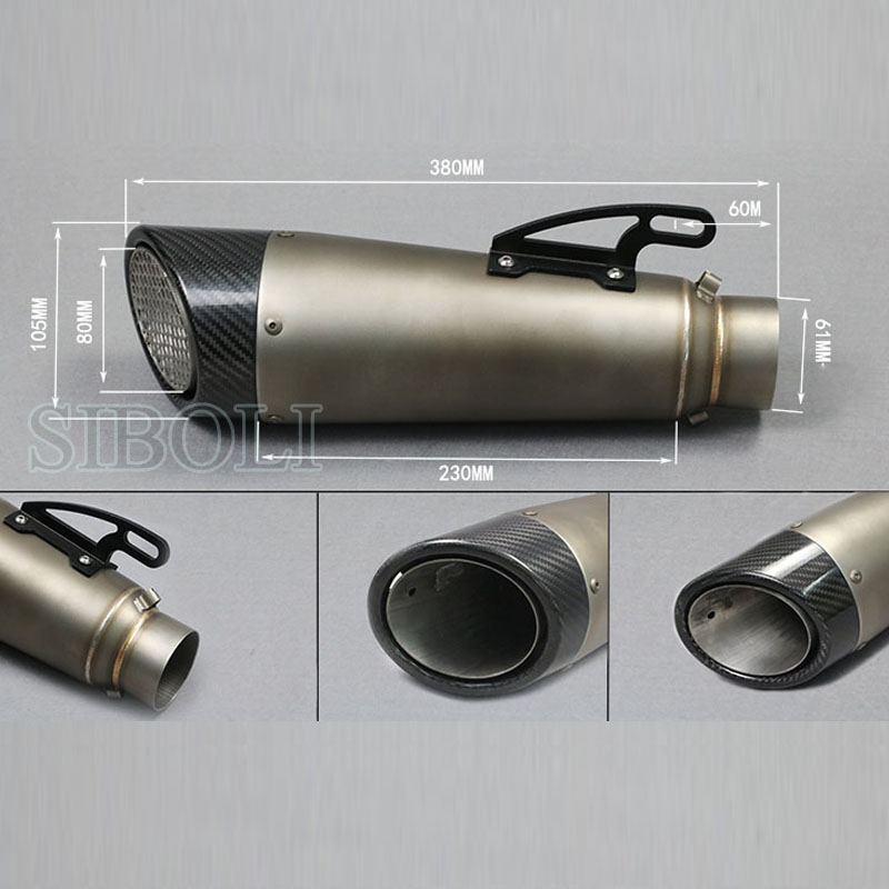 51MM 60MM Universal Modified Motorcycle Exhaust Pipe Moto Muffler Escape Exhaust Nice Sound For S1000 S1000R S1000RR BMW SC022