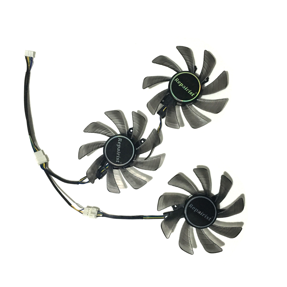 GTX1080 GTX1070 GTX1080Ti GPU VGA Cooler Cooling Fan For kuroutoshikou KFA2 GTX 1080/1080Ti/1070 Video Cards As Replacement цена