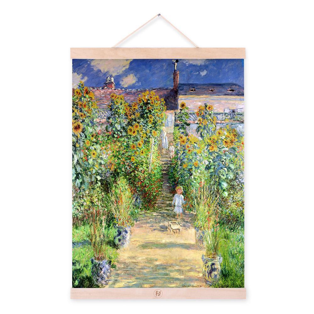 Modern Impressionism Claude Monet Rural Sunflower Garden