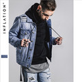 Men Autumn Denim Jackets Turn-Down Collar Male Jean Coat Streewear Brand Clothing Men Jackets With Hole A2650