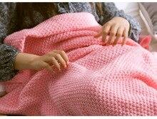 Narwaldate Winter Blanket Knitted Mermaid Tail Thinken Crochet Anti-pilling Nap Sleep Bag Sexy Cozy Profile Christmas