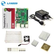Discount! Raspberry Pi 3 Model B Starter Kit Pi 3+Acrylic Case+2.5A Power Supply +USB Cable + Fan + Heat Sink RPI 3