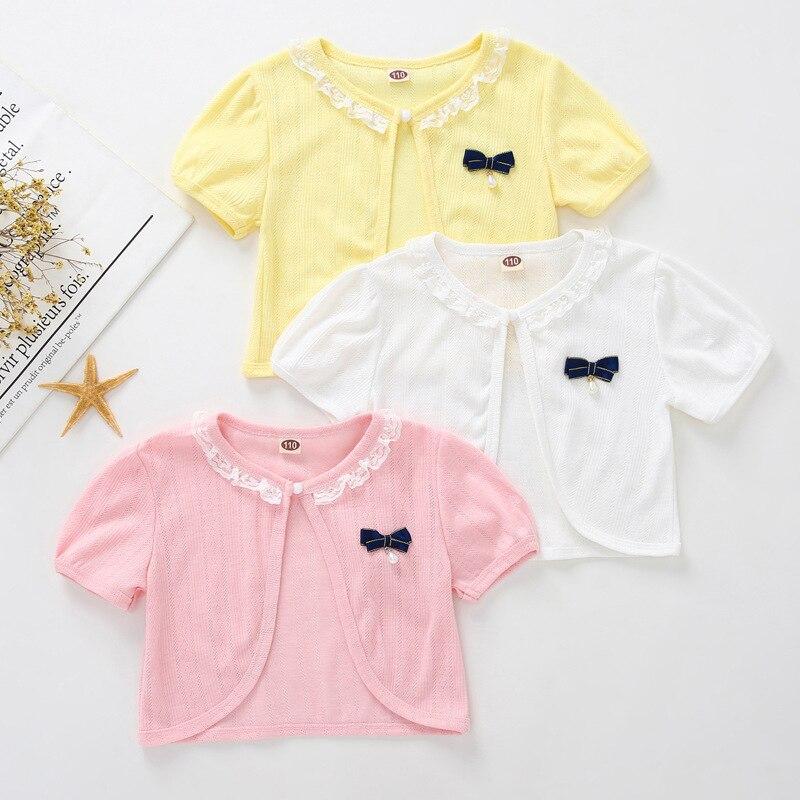 Jacket Cardigan Baby-Girls Toddler Summer Yellow 6-9 12 Thin Short RKC194004 Shawl Beach