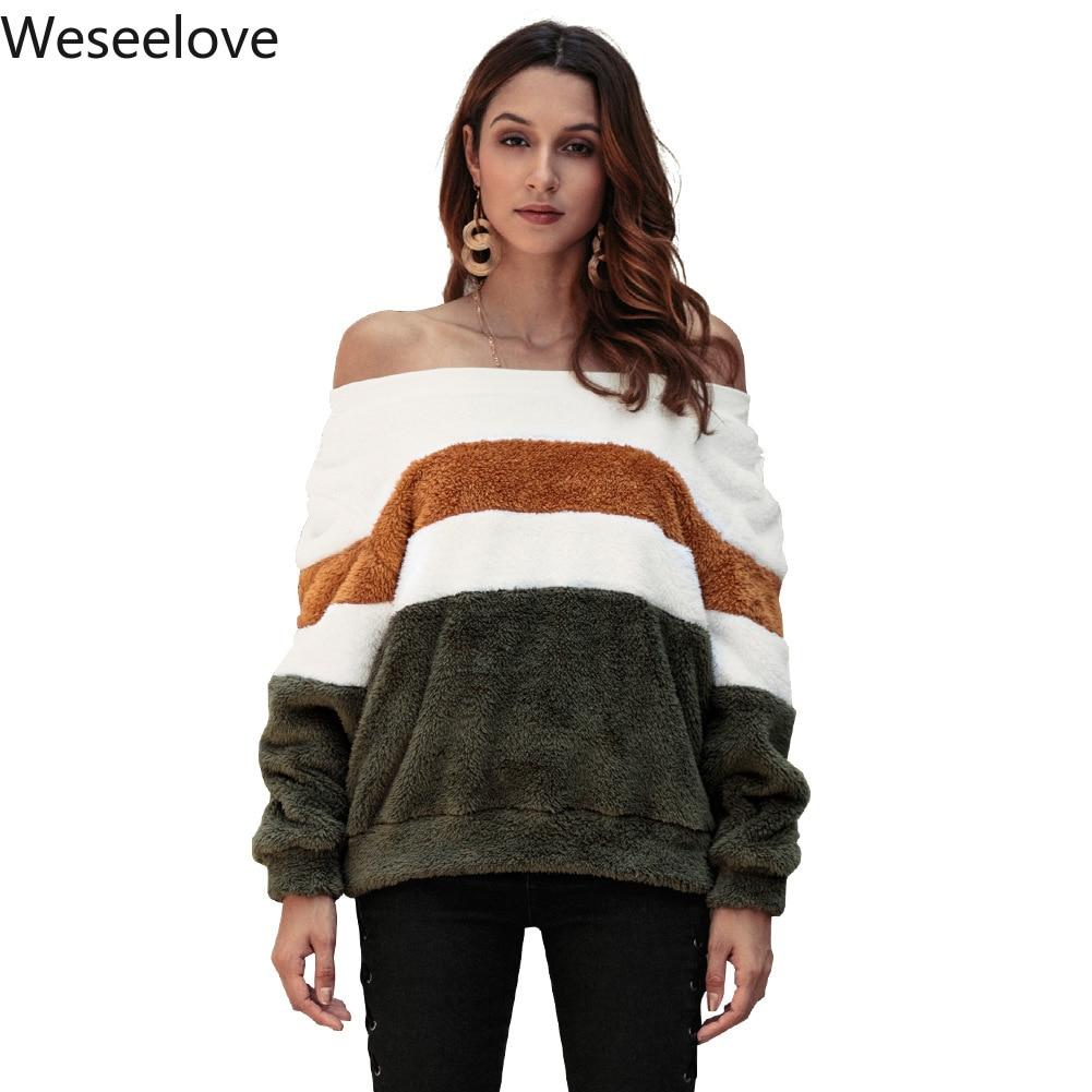 0ab1e2789 Comprar Camisolas das mulheres Pullover Roupas Plus Size Fora Do Ombro  Queda Encabeça 2018 Outono Moda Feminina Camisola Vetement Femme FO8  Baratas Online ...