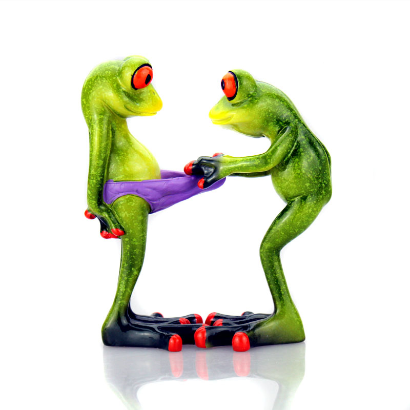New frogs figurine sexy modern resin home sculpture for Modern new home gifts