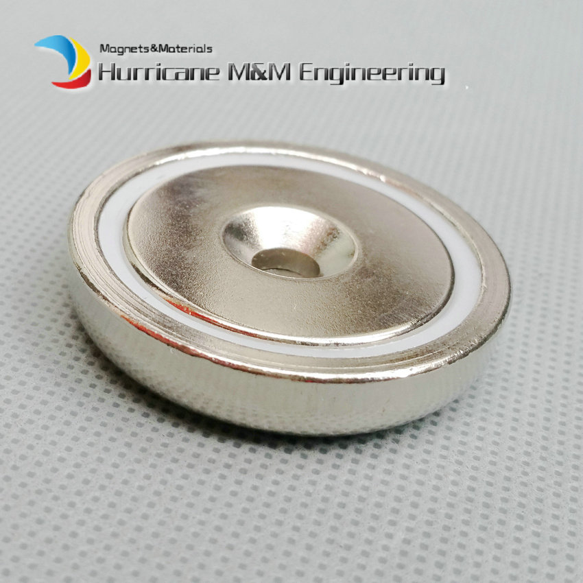 12pcs Mounting Magnet Dia 42mm Clamping Pot Magnet with Countersunk Screw Hole Neodymium Permanent Strong Holding Magnet 4pcs d48mm strong attracting force neodymium magnet pot with a countersunk hole working fixture antenna camera magnetic bases