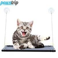 Pawstrip 66X40cm Pet Cat Bed Window Breathable Waterproof Cat Hammock Bed Summer Cat Window Hammock For Kitten