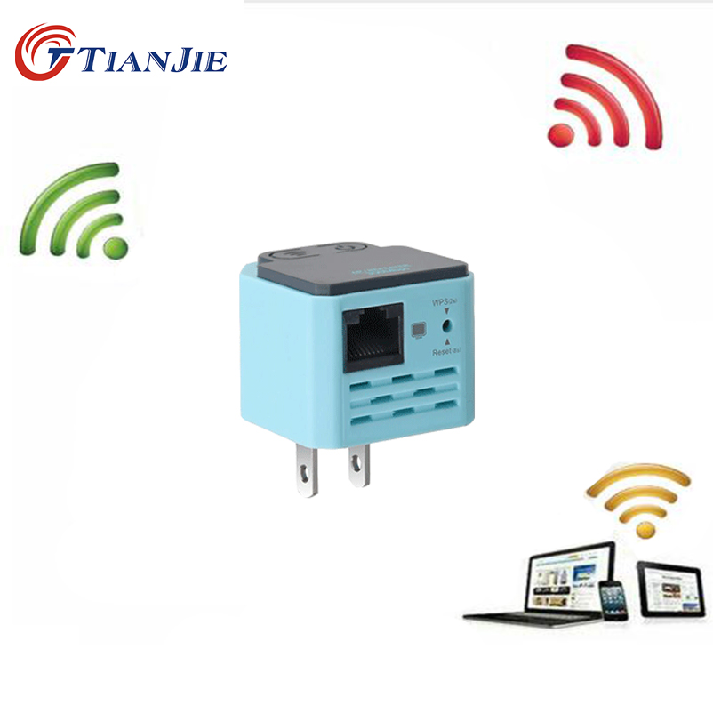 Wireless Wifi Repeater 802.11n/b/g Network Wi Fi Routers 300Mbps Range Signal Booster Extender Bridge Ap Wps Encryption