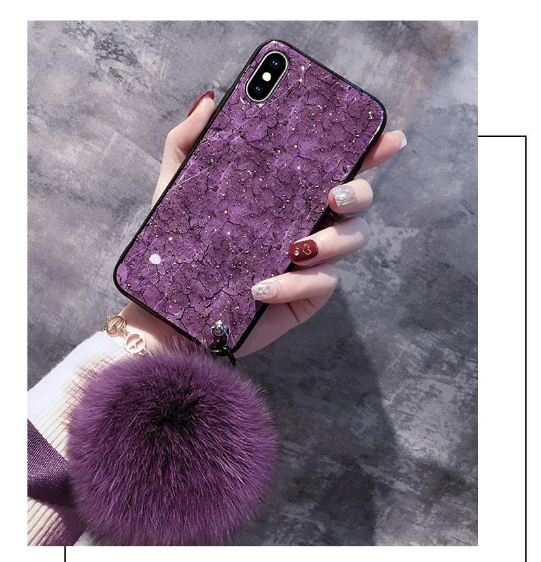 BotexBling marmo di Lusso braccialetto di scintillio cassa del telefono catena per iphone XS caso di MAX 8 8 più di 7 7 più 6 s plus 6 plus Per iphone X XR