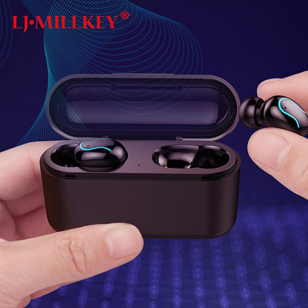 Bluetooth 5.0 fones de ouvido TWS verdadeiro IPX7 8D esportes fone de ouvido estéreo sem fio à prova d' água fone de ouvido com microfone duplo YZ270