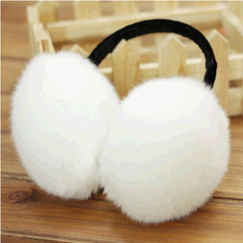 5 Colors Ear Muffs Real Fur Winter Ear Warmer Unisex Earmuffs For Women Girl Headband Fur Round Ear Muffs Earlap Oorwarmers R3