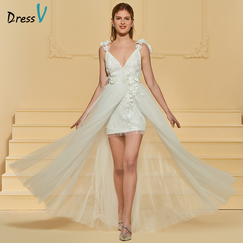 Lace Wedding Gowns With Straps: Dressv Ivory Long Wedding Dress Spaghetti Straps Lace A