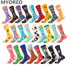 MYORED 1 pair men socks cotton funny cre