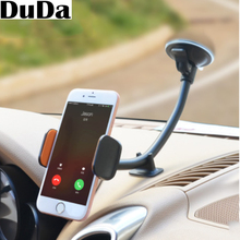 Car Phone Mount Long Arm Universal Windshield Dashboard Cellphone Holder for iPhone X 8 7 Plus 6 6s Plus 5s SE Samsung Galaxy S9 pu leather mini handbag universal cellphone pouch for iphone 7 plus samsung galaxy s8 plus size 172 x 105mm baby blue