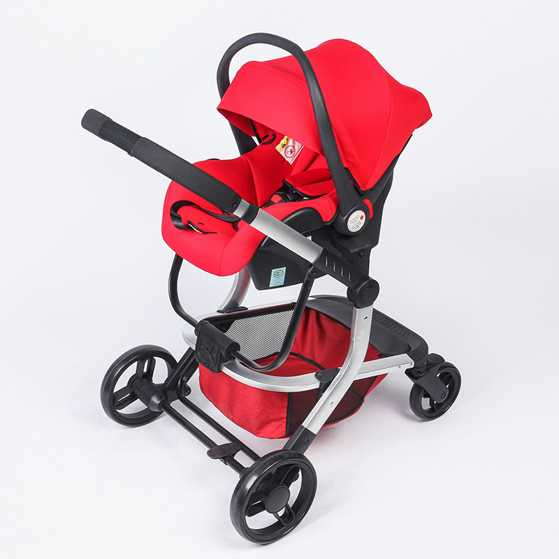 High-view Baby Stroller with Newborn Car Seat Sleeping Carrying Basket Safety Seat Multiple Baby Stroller 2 In 1 Pram Push Car babysing baby car safety seat sleeping basket portable newborn baby carrier basket safety car seat cradle for baby 0 12 m