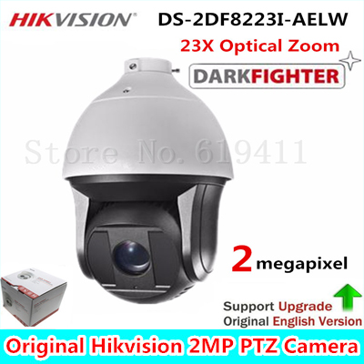 HiK English Version 2MP Ultra-low Light Smart PTZ Camera DS-2DF8223I-AELW Oudoor 23X Optical Zoom IR 200m Dome Darkfighter Cam 2017 new ds 2df8836iv aelw english version 4k smart ir ptz camera poe camera with wiper