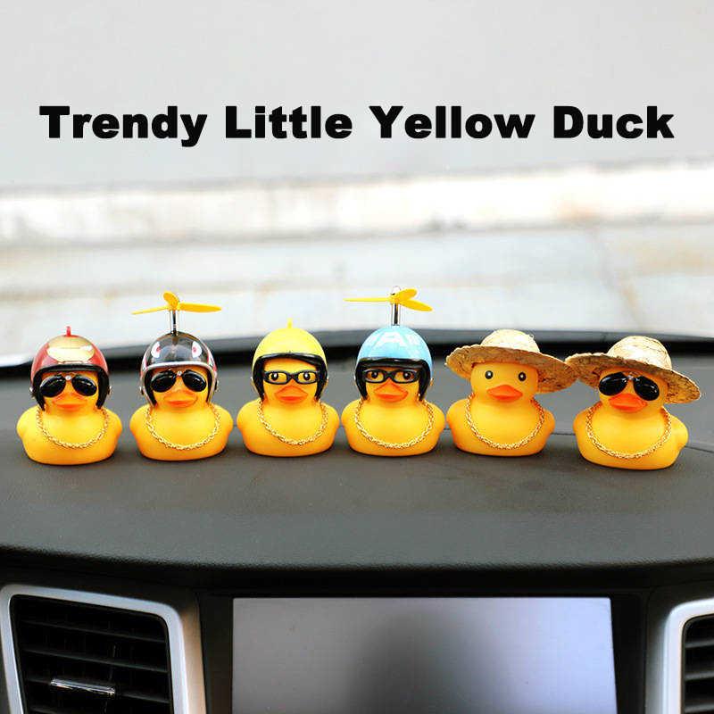 KingDeng צעצוע אופנה מגמת גומי קטן צהוב ברווז עם מדחף מצחיק חמוד