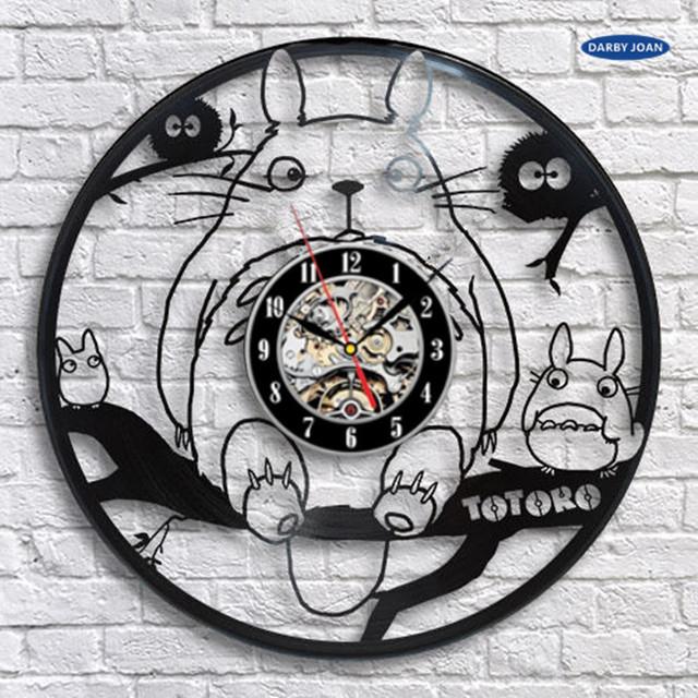 Studio Ghibli Totoro Vinyl Record Clock Style 2