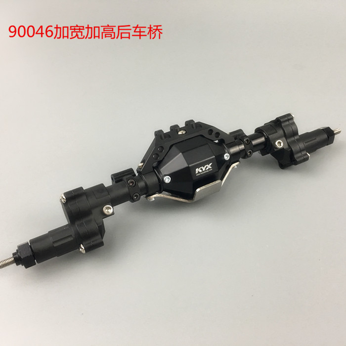 1/10 Scale Crawler RC Car axle upgrade part rear portal widen and rise axle for Axial scx10-ll 90046 2pcs 2 2 metal wheel hubs for 1 10 scale rc crawler car nv widen version outer beadlock wheels diameter 64 5mm width 43 5mm