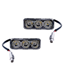 2Pcs Car Lights Led Daytime Running Lamp Fog Bulb 12V DRL for ATV SUV Boat 4x4 Accessories Universal Auto Parts 6000K HLXG(China)